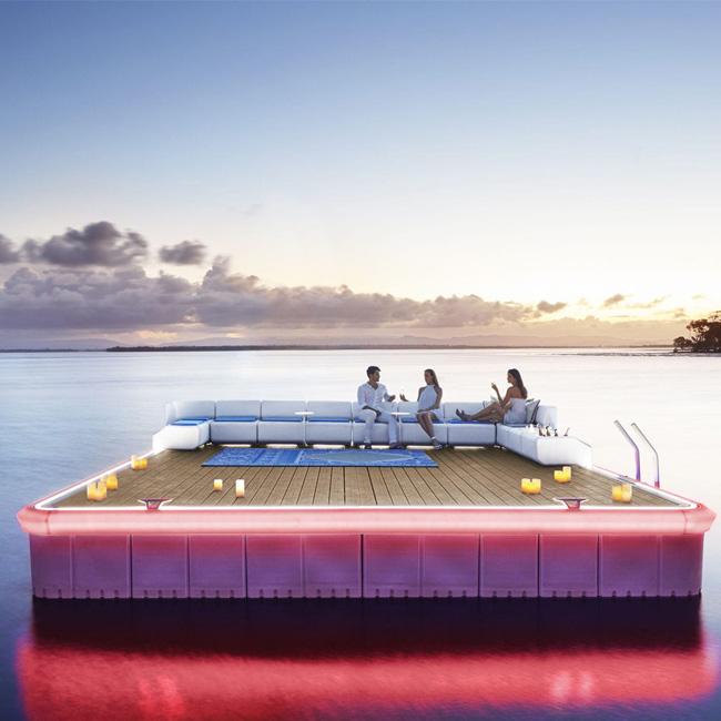 Dock VIP lounge flottant