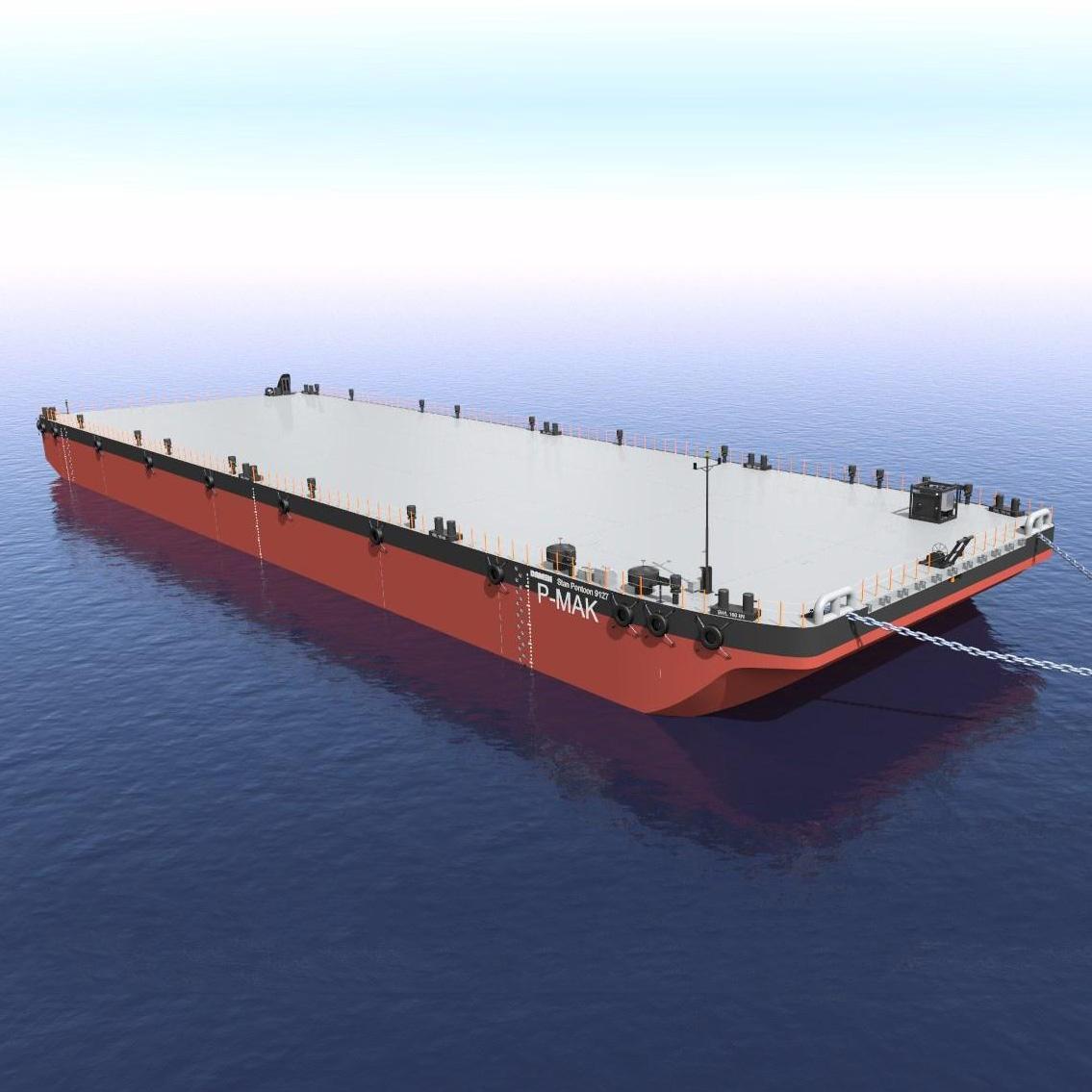 Barges pontons industriels pour plateformes flottantes
