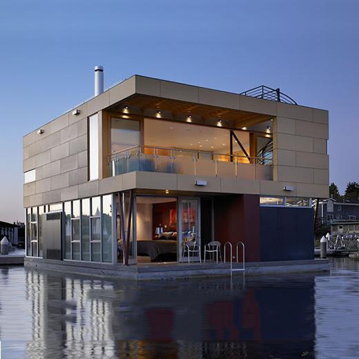 Villas indivuelles-flottantes